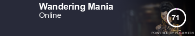 Steam Profile badge for Wandering Mania: Get your our own Steam Signature at SteamProfile.com