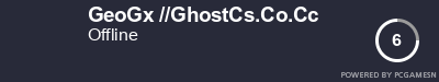 Steam Profile badge for GeoGx //GhostCs.Co.Cc: Get your our own Steam Signature at SteamProfile.com