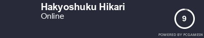 Steam Profile badge for Hakyoshuku Hikari: Get your our own Steam Signature at SteamProfile.com