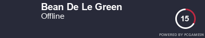 Steam Profile badge for Bean De Le Green: Get your our own Steam Signature at SteamProfile.com