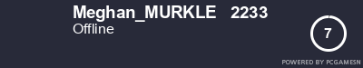 Steam Profile badge for Meghan_MURKLE   2233: Get your our own Steam Signature at SteamProfile.com