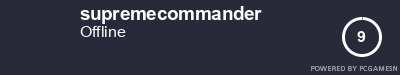 Steam Profile badge for supremecommander: Get your our own Steam Signature at SteamProfile.com
