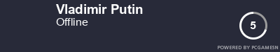 Steam Profile badge for Vladimir Putin: Get your our own Steam Signature at SteamProfile.com