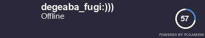 Steam Profile badge for degeaba_fugi:))): Get your our own Steam Signature at SteamProfile.com