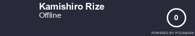 Steam Profile badge for Kamishiro Rize: Get your our own Steam Signature at SteamProfile.com