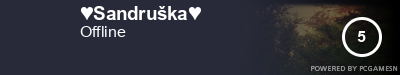 Steam Profile badge for ♥Sandruška♥: Get your our own Steam Signature at SteamProfile.com