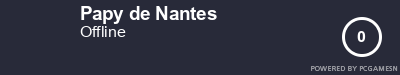 Steam Profile badge for Papy de Nantes: Get your our own Steam Signature at SteamProfile.com